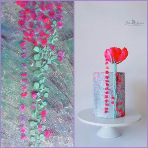 ROSE CAKE AND PAINTING